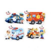 Rescue Services 4x Puzzle (4+5+6+7)