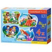 Fairytale Friends4xPuzzle 3+4+6+9