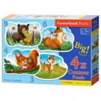 Forest Animals Puzzle 3+4+6+9