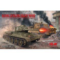 Battle of Berlin April 1945 T-34-85 King Tiger 1/35
