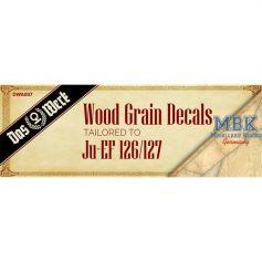 Wood Grain Decals for Ju EF-126/ 127 1/32
