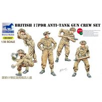 17pdr Anti-Tank Gun Crew Set 1/35