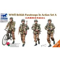 WWII British Paratroops Action Set A 1/35