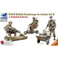 WWII British Parattroops Action Set B 1/35