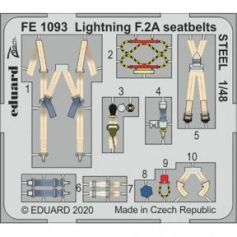 Lightning F.2A seatbelts Steel 1/48