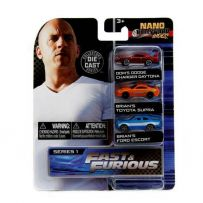 Assortiment 3 pièces Fast and Furious Nano set 2