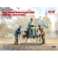 Benz Patent-Motorwagen 1886 with Mrs. Benz & Sons (100% new molds) 1/24
