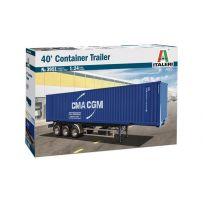 Remorque Container 40 pouces 1/24