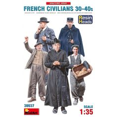 French Civilians 30-40 Resin Heads 1/35