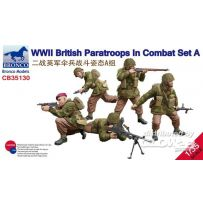 WWII British Paratroops in Combat Set A 1/35