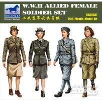 W.W.II Allied Female Soldier Set 1/35