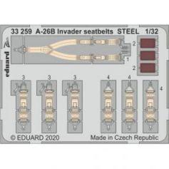 A-26B Invader seatbelts STEEL 1/32