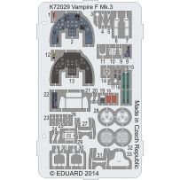 Vampire F Mk.3 Coloured photo-etched parts 1/72