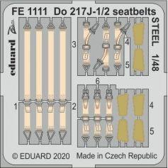 Do 217J-1/2 seatbelts STEEL 1/48