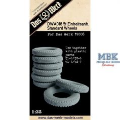Das Werk DWA018 - Jeu de roues en résine pour 5t Einheitsanhanger 1/35