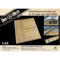 Ensemble de planches en bois véritable pour 5t Einheitsanhänger 1/35