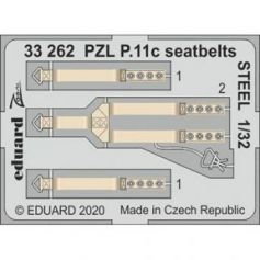 PZL P.11c seatbelts STEEL 1/32