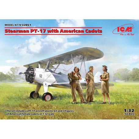 Stearman PT-17 with American Cade 1/32