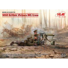 WWI British Vickers MG Crew (Vickers MG & 2 figures) 1/35