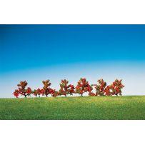 6 Buissons, à fleurs rouges Dimensions : 40 mm