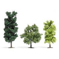 3 arbres à feuilles HO
