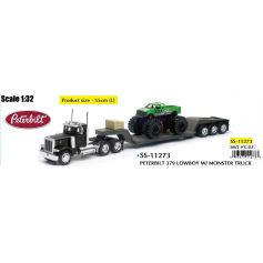 Peterbilt Lowboy W/ Monster Truck 1/32