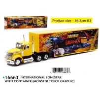 International Lonestar with Container (Monster Truck Graphic) 1/43
