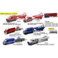 New Ray 19915r - 4x4 et Van + Remorques (Police / Gendarmerie / Pompiers) 6 assortis 1/43