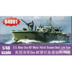 Elco 80 Motor Patrol Torpedo Boat Late Type 1/48