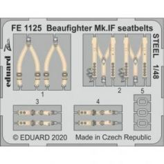 Beaufighter Mk.IF seatbelts STEEL 1/48