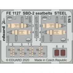 SBD-2 seatbelts STEEL 1/48