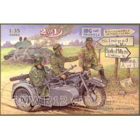 BMW R12 with sidecar military versions 1/35