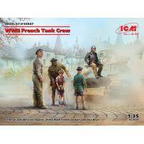 Équipage de char français de la Seconde Guerre mondiale (5 figurines) 1/35