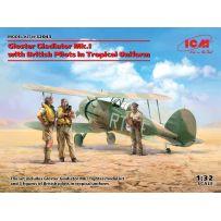 Gloster Gladiator Mk.I avec des pilotes britanniques 1/32