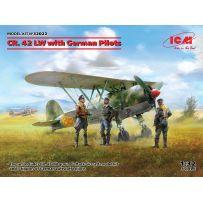 Icm 32022 - CR. 42 LW avec des pilotes allemands 1/32