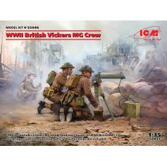 WWII British Vickers MG Crew Vickers MG & 2 figures 1/35