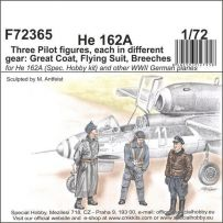 He 162 - Trois figurines de pilote 1/72