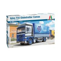 VOLVO F16 Globetrotter Canvas Truck with elevator 1/24