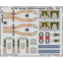 Mirage 2000D/N seatbelts Steel 1/32