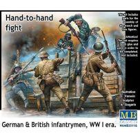 Hand-to-hand fight German&British infantrymen WWI 1/35
