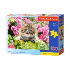 KITTEN IN FLOWER GARDEN 100 PCS