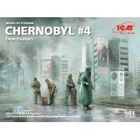 Tchernobyl 4. (4 Figurines de Décontaminateurs) 1/35