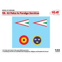 Décalque pour Fiat CR. 42 Falco dans les Services Etrangers 1/32