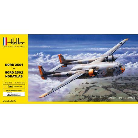 Heller 85374 - Nord 2501 + Nord 2502 NORATLAS TWINSET 1/72