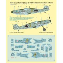 Bf 109E-4 German Ace H. Wick Decal Motley Camo 1/72