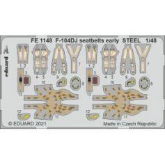 F-104DJ seatbelts early Steel 1/48
