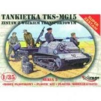 Tankette Tks/Mg 15 Mit Universal Transportanhänger 1/35
