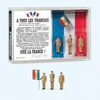 Figurines (80e anniversaire Charles de Gaulle) 1/87