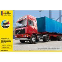 Heller 57702 - STARTER KIT F12-20 Globetrotter & Container semi trailer 1/32