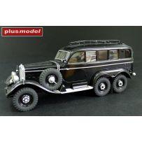 PLUS MODEL 195 - Voiture radio allemande Mercedes G4 1/35